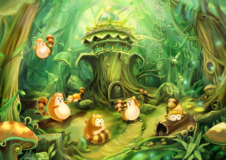 森林的卡通图片