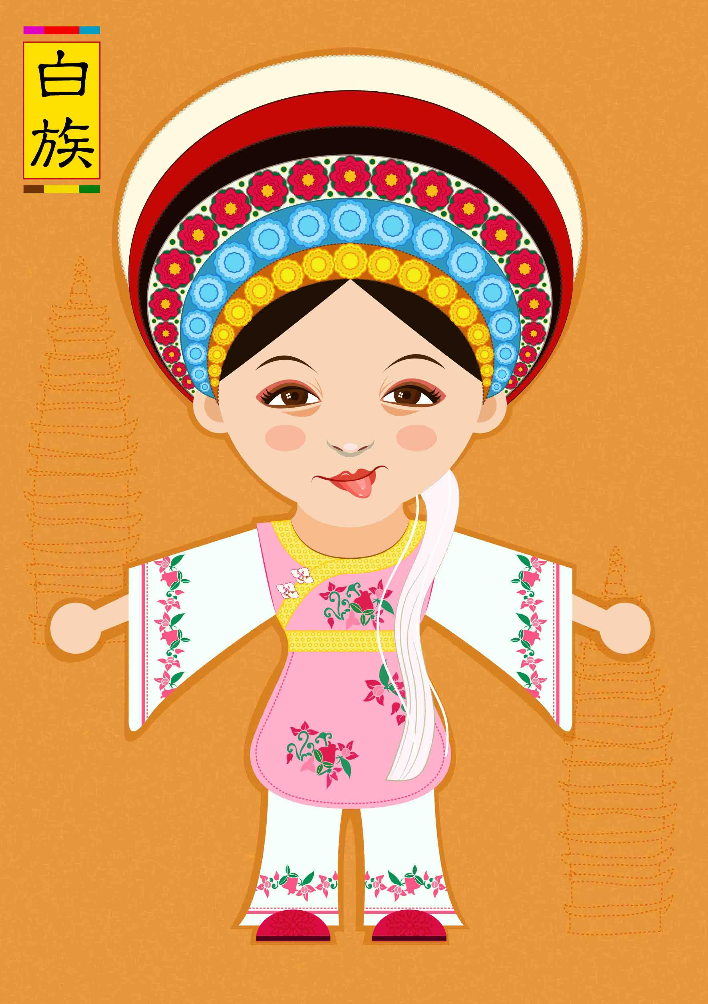 少数民族服饰推广·卡通人物形象设计|平面|图案|奶奶