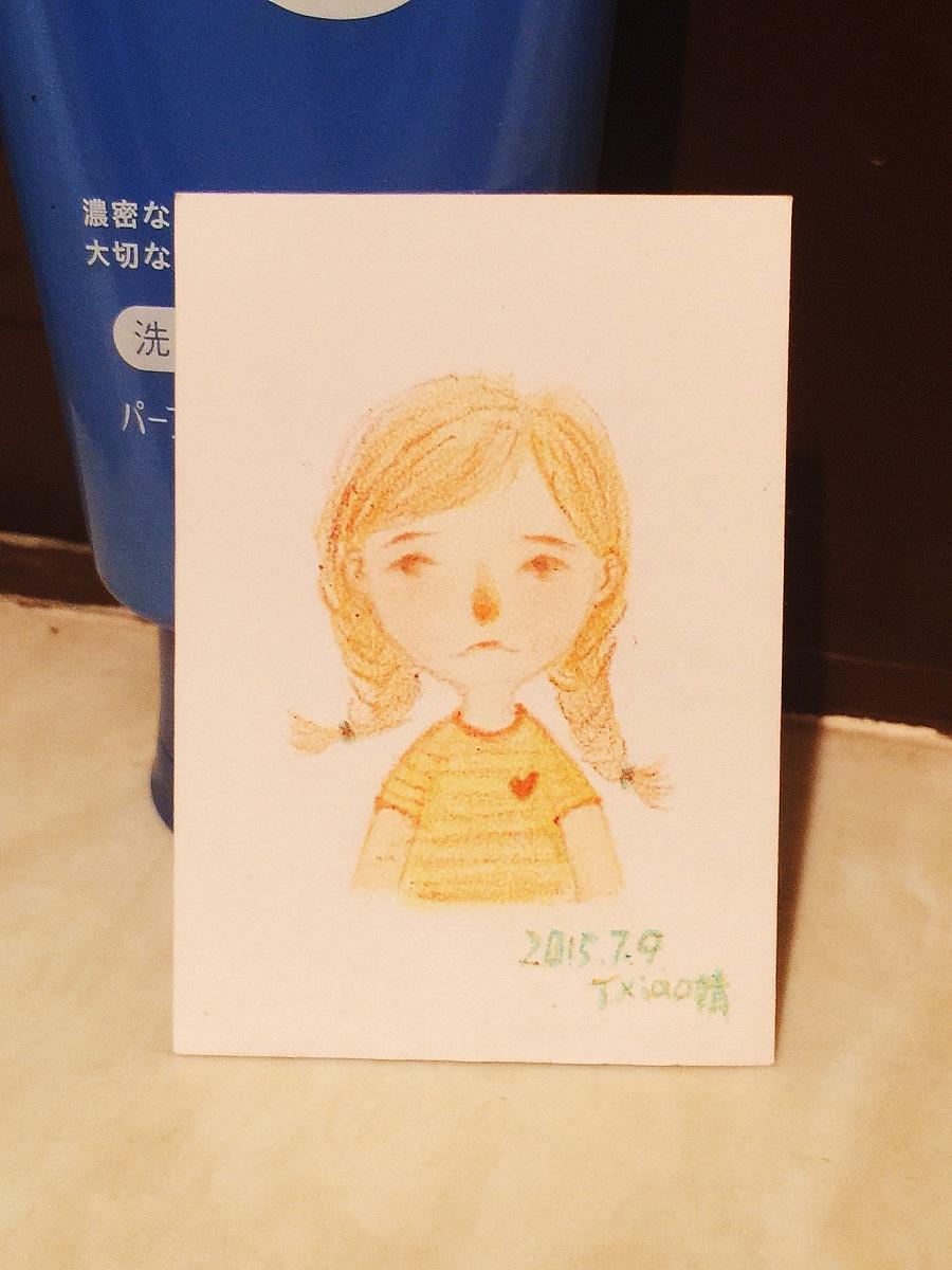 手绘彩铅小人物系列插画39|商业插画|插画|丁小婧