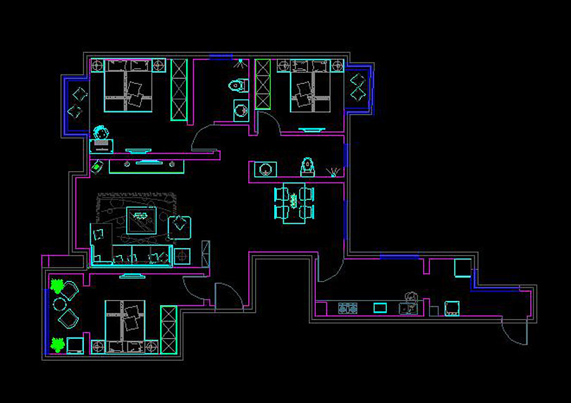 升龙乡村151平方三室两厅两卫美式国际装修家装v乡村世界级的案例设计师图片