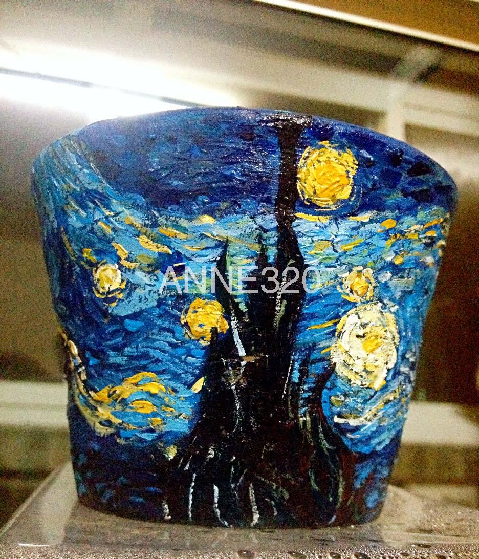 手绘花盆星空|纯艺术|其他艺创|anne320 - 原创作品
