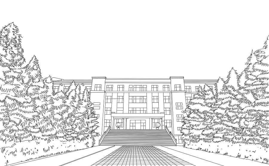 一组手绘校园明信片|商业插画|插画|小俊君