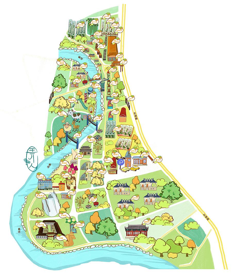 原创作品:农庄手绘地图
