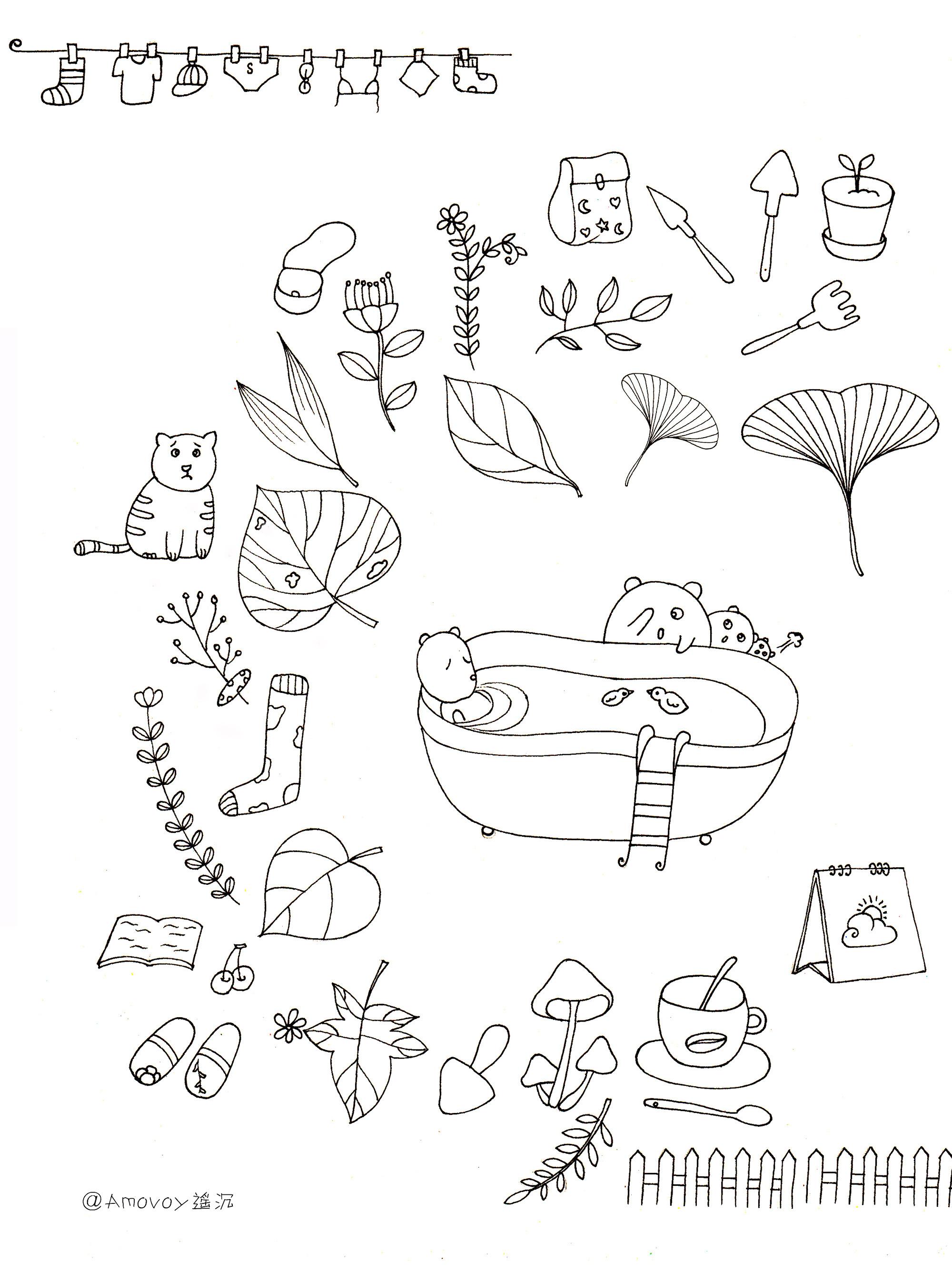 简笔画 设计 矢量 矢量图 手绘 素材 线稿 2000_2692 竖版 竖屏