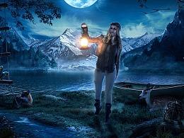杰克直播月-夜景光影表现【练习】