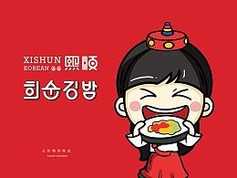 餐饮连锁品牌形象设计 寿司/紫菜包饭logo/vi设计