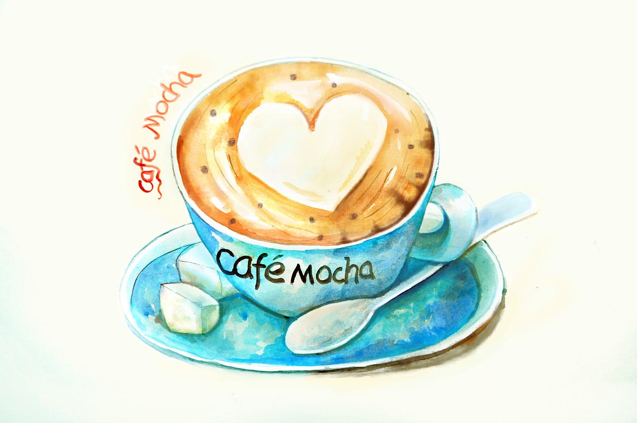 手绘咖啡厅:乐知咖啡 - 原创作品 - 站酷(ZCOOL)
