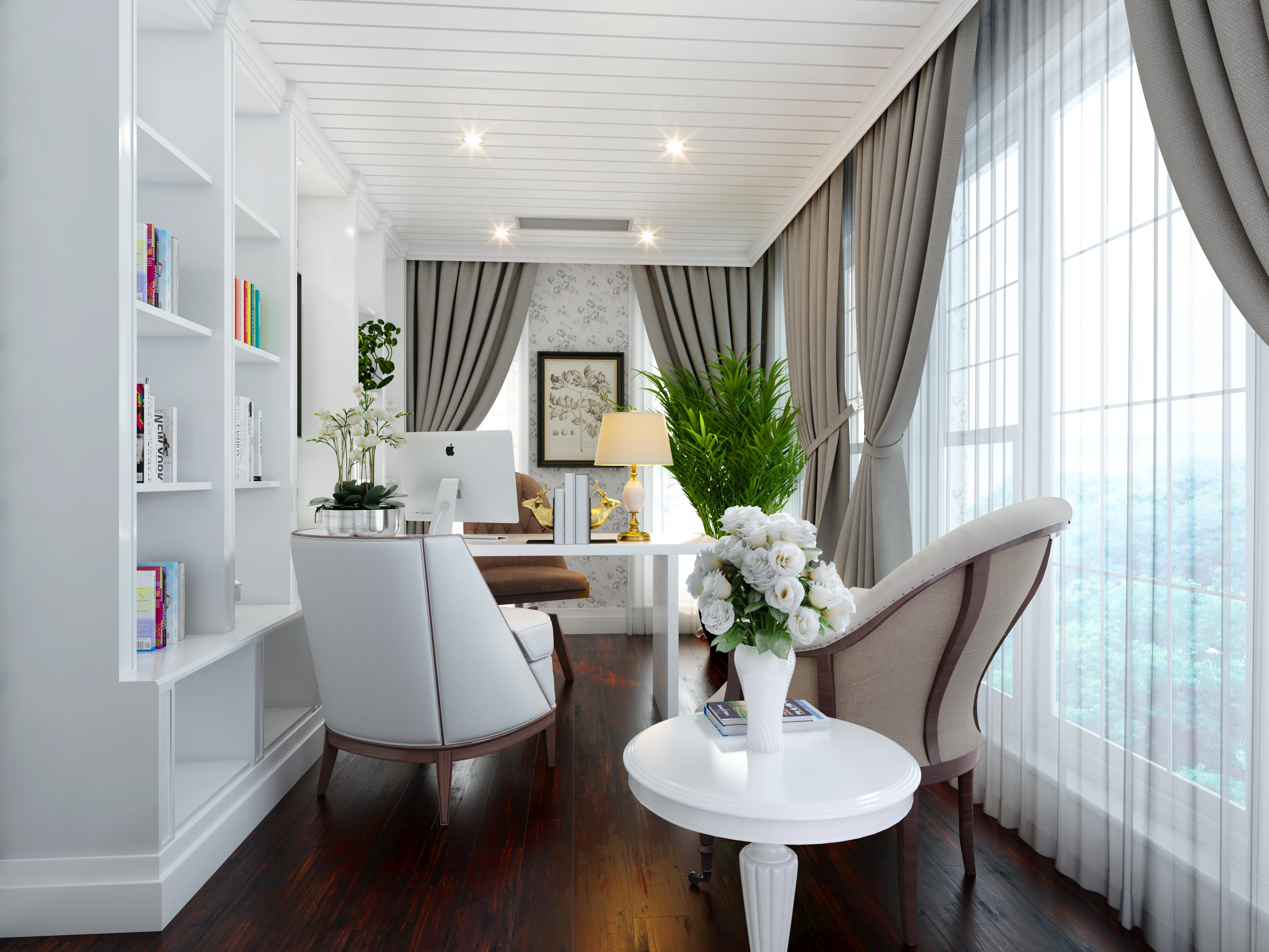 英伦风书房一张|空间|室内设计|caozhixin - 原创作品图片