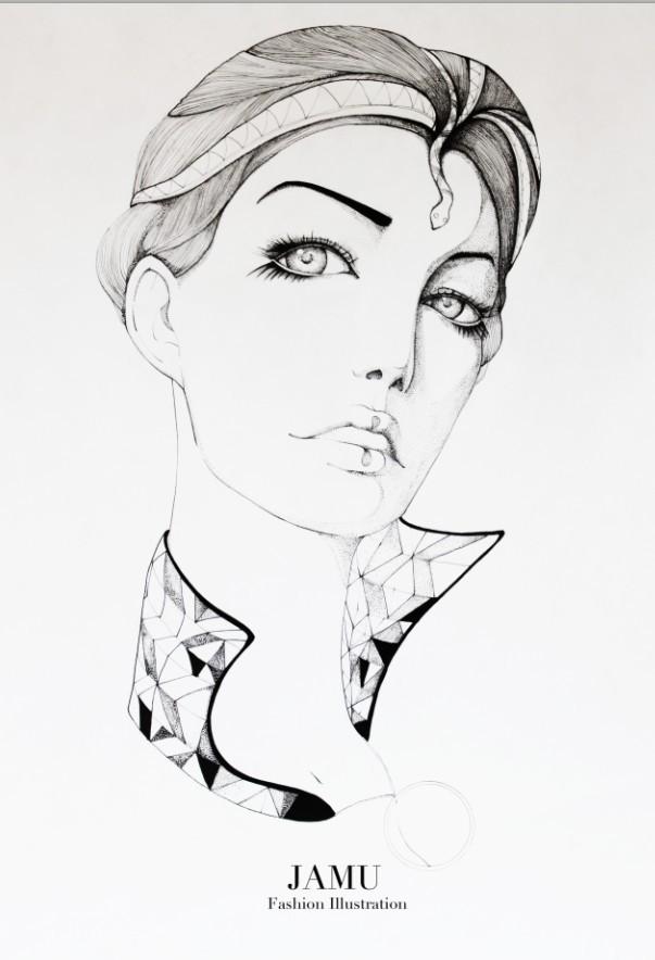 查看《JAMU時尚插畫之十二生肖合集》原图,原图尺寸:603x884
