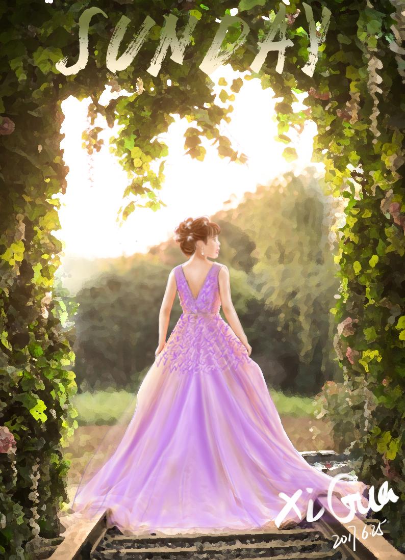 梦幻手绘婚纱
