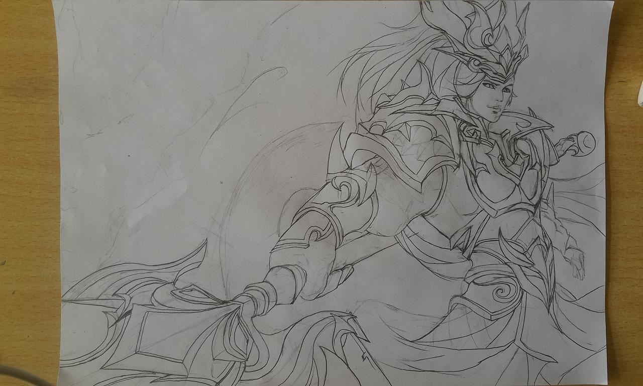 王者荣耀英雄手绘|插画|插画习作|居无竹设计工作室