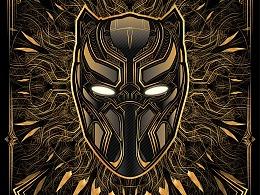 漫威影业《黑豹》Gold Poster