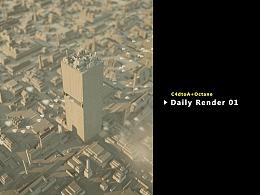 C4dtoA+Octane Daily Render 01