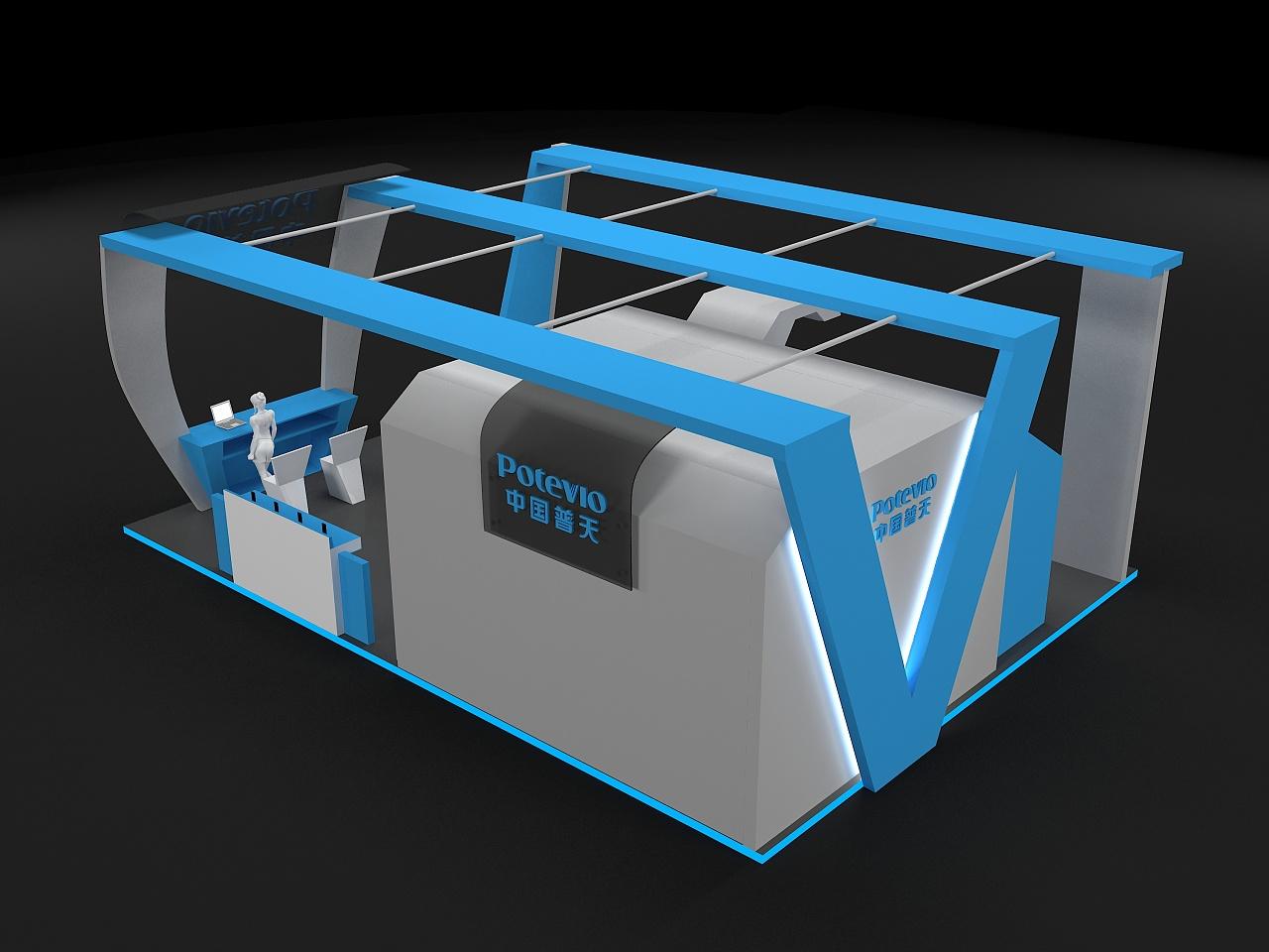 中国普天展览展示,展台设计图片