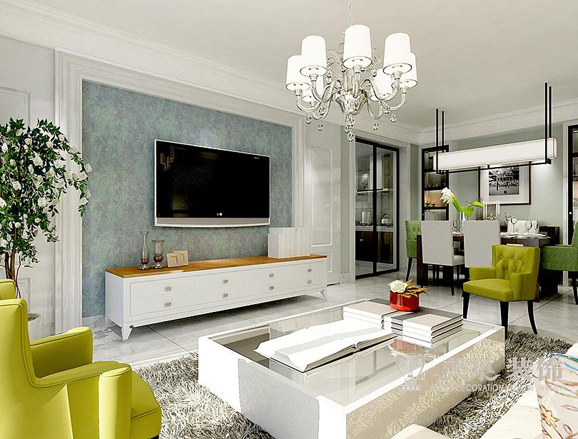 中建森林上郡装修效果图160平四室两厅现代简约设计方案---客厅