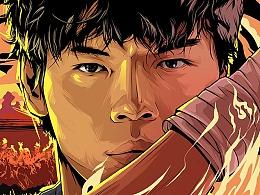 《我的拳王男友》插画电影海报