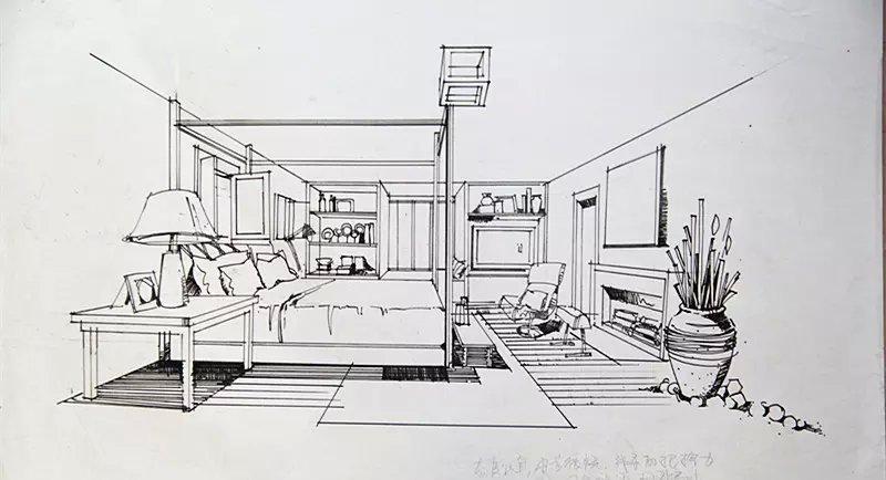 室内线稿和植物线稿|室内设计|空间/建筑|猫叔卐