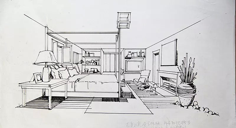 室内线稿和植物线稿|空间|室内设计|baizetattoopmooo