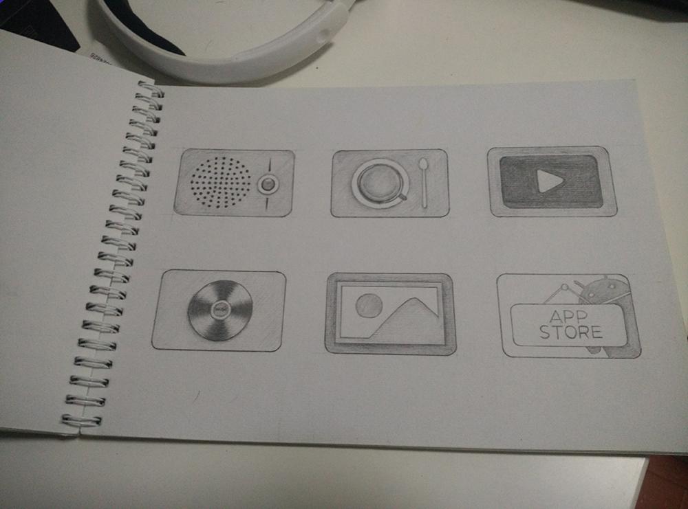 手机图标手绘临摹