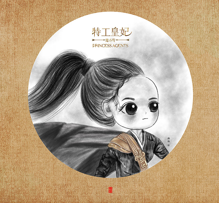 【楚乔传】插画手绘人物卡通头像手绘画像情侣头像
