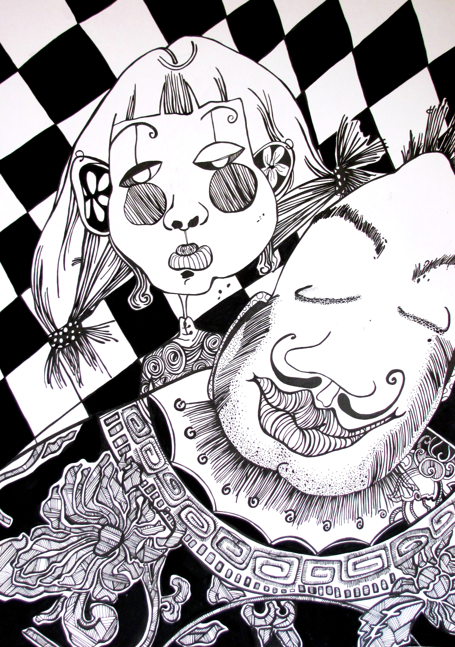手绘插画|平面|图案|章鱼墨水 - 原创作品 - 站酷