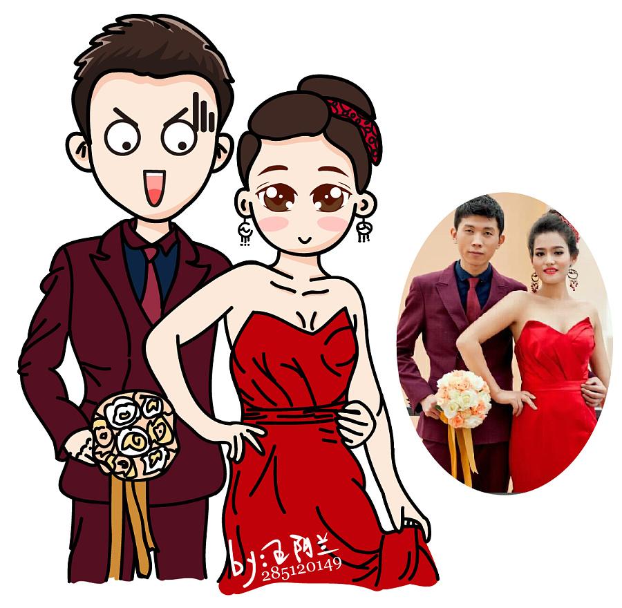 结婚照专属卡通头像logo