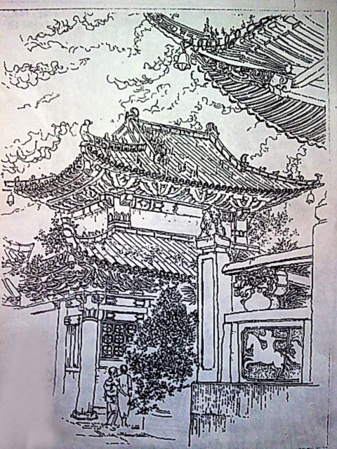 中国古代建筑|商业插画|插画|量子猫