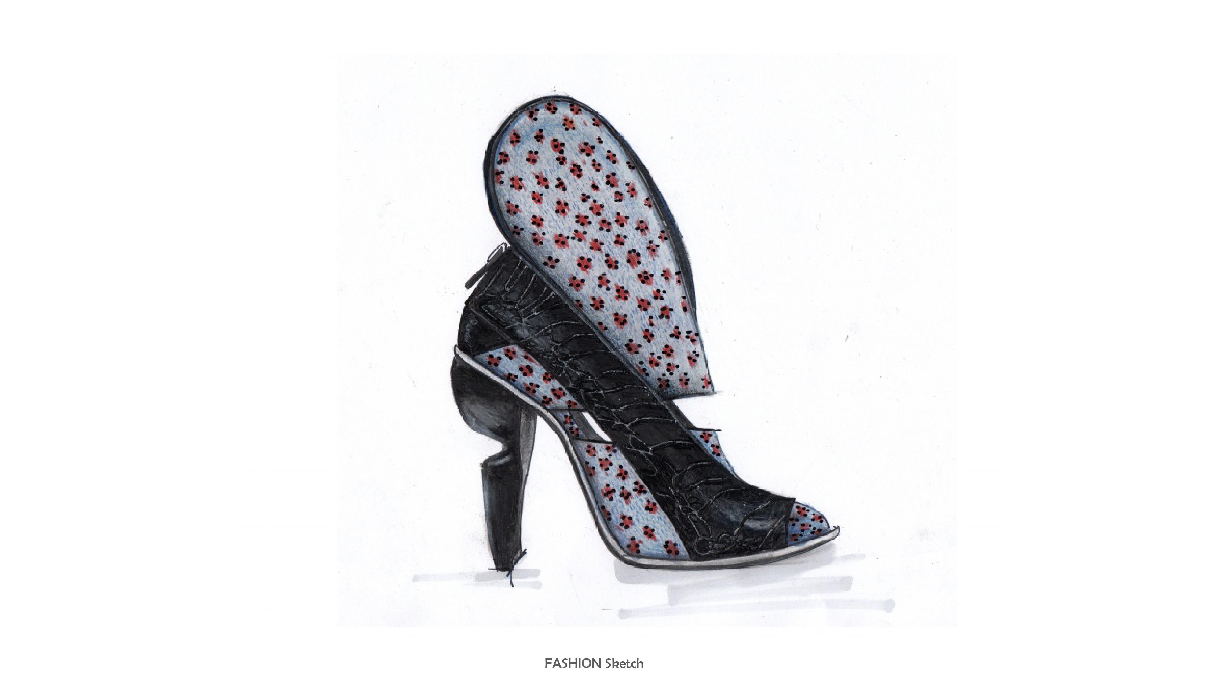 马克笔手绘时尚鞋品