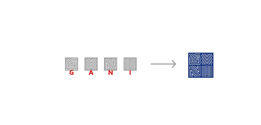字母为基础    适当抽象几何化,强化图形与品牌名称关联,直观联想图片