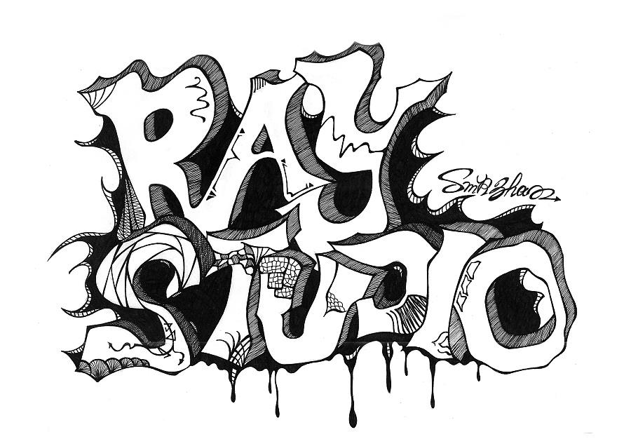 黑白字体手绘|插画习作|插画|smrzhao4295