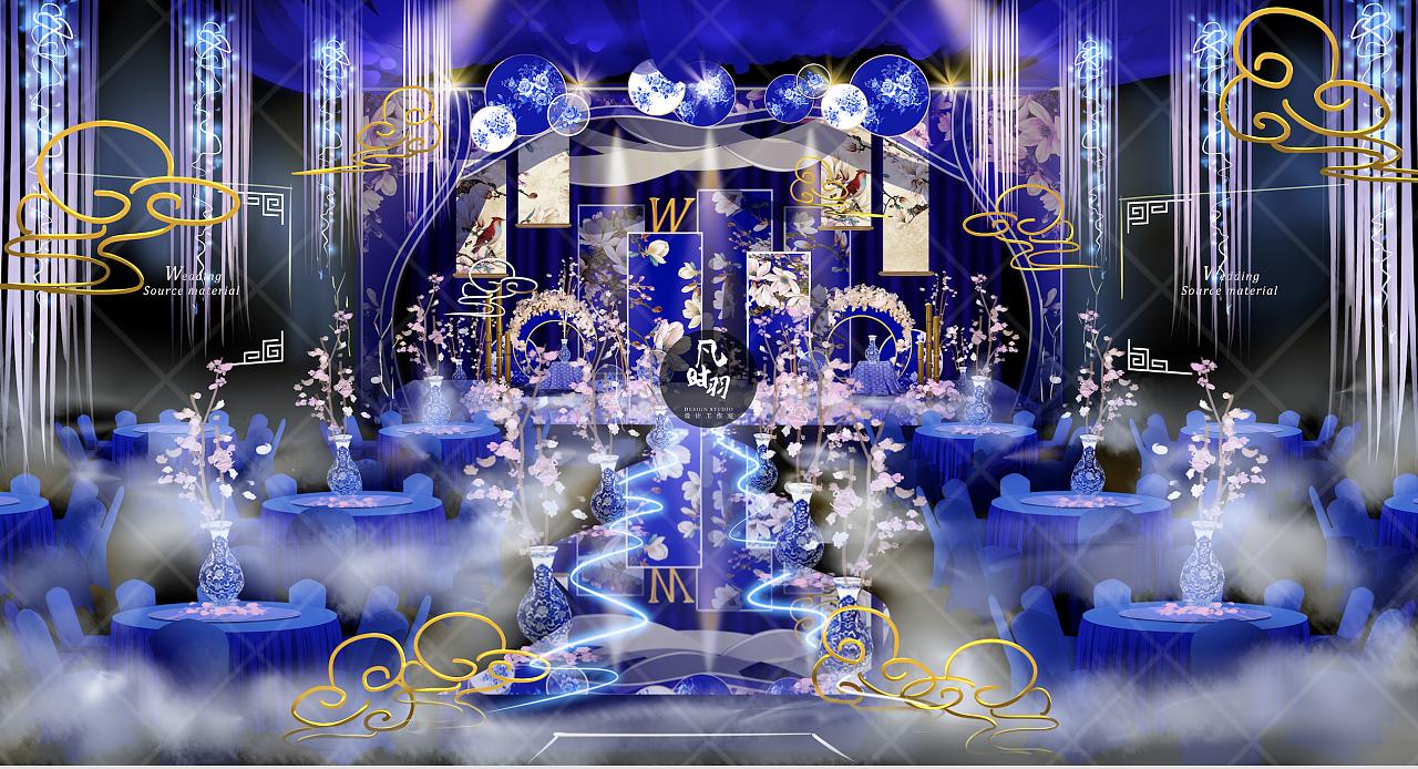 婚礼手绘 — 电脑 「青花瓷 」