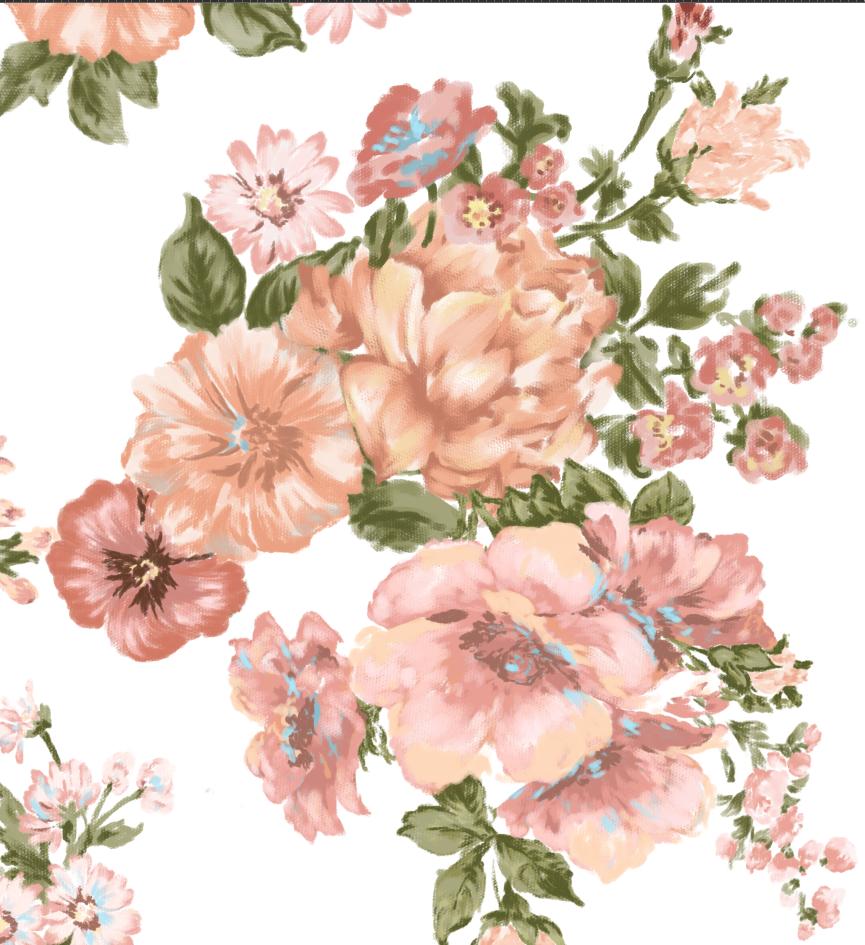 ps手绘花卉(粉笔画笔)|面料/印花|服装|benbenqiuqiu