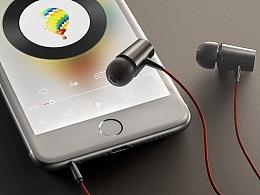 C4D练习 - 数据线和耳机渲染