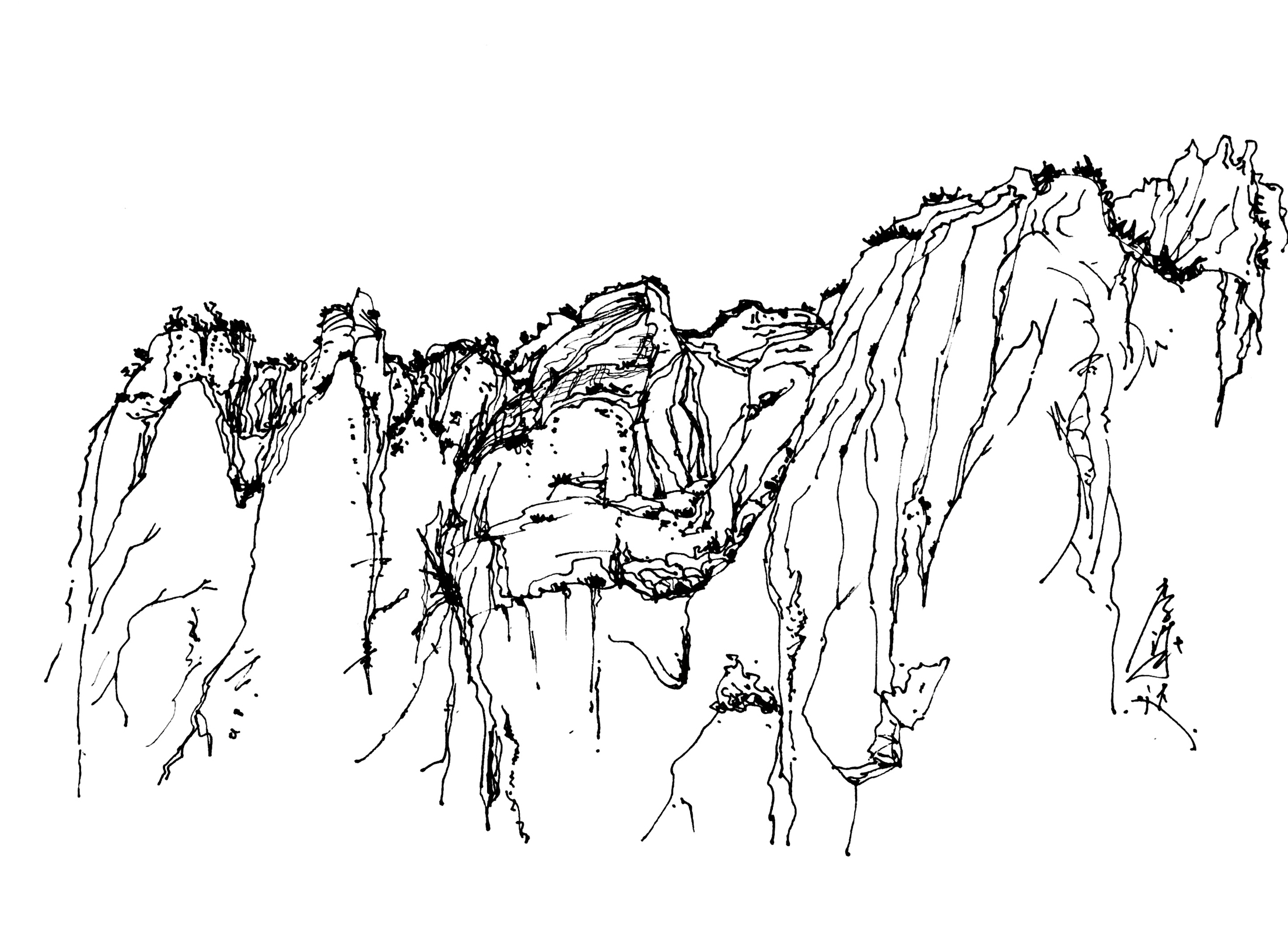 风景钢笔画.一个小时快速国画美学.