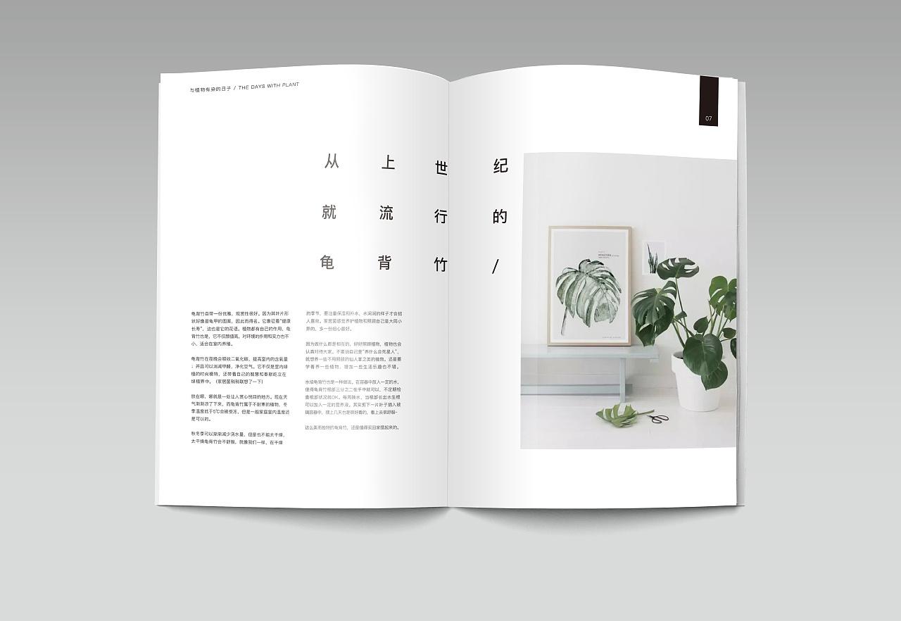 北欧风格植物画册