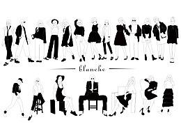 20张黑白简洁插画总结