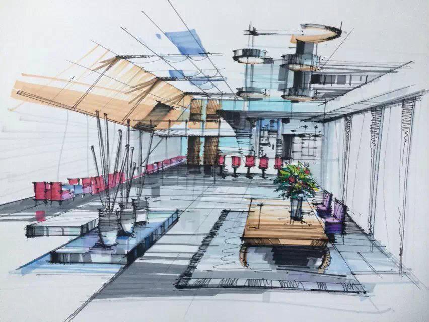 临摹手绘|室内设计|空间/建筑|倩l岚
