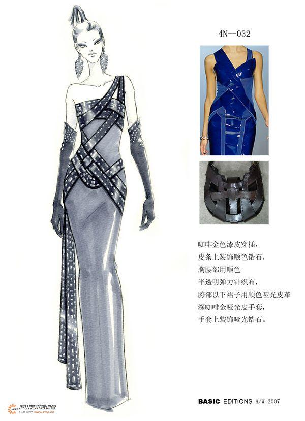 服装马克笔手绘系列——孙雪飞老师|正装/礼服|服装