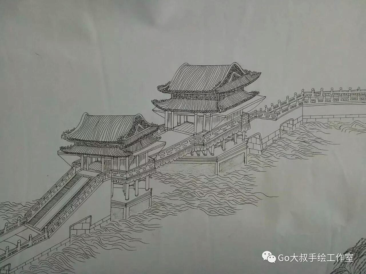 皇宫手绘图片大全