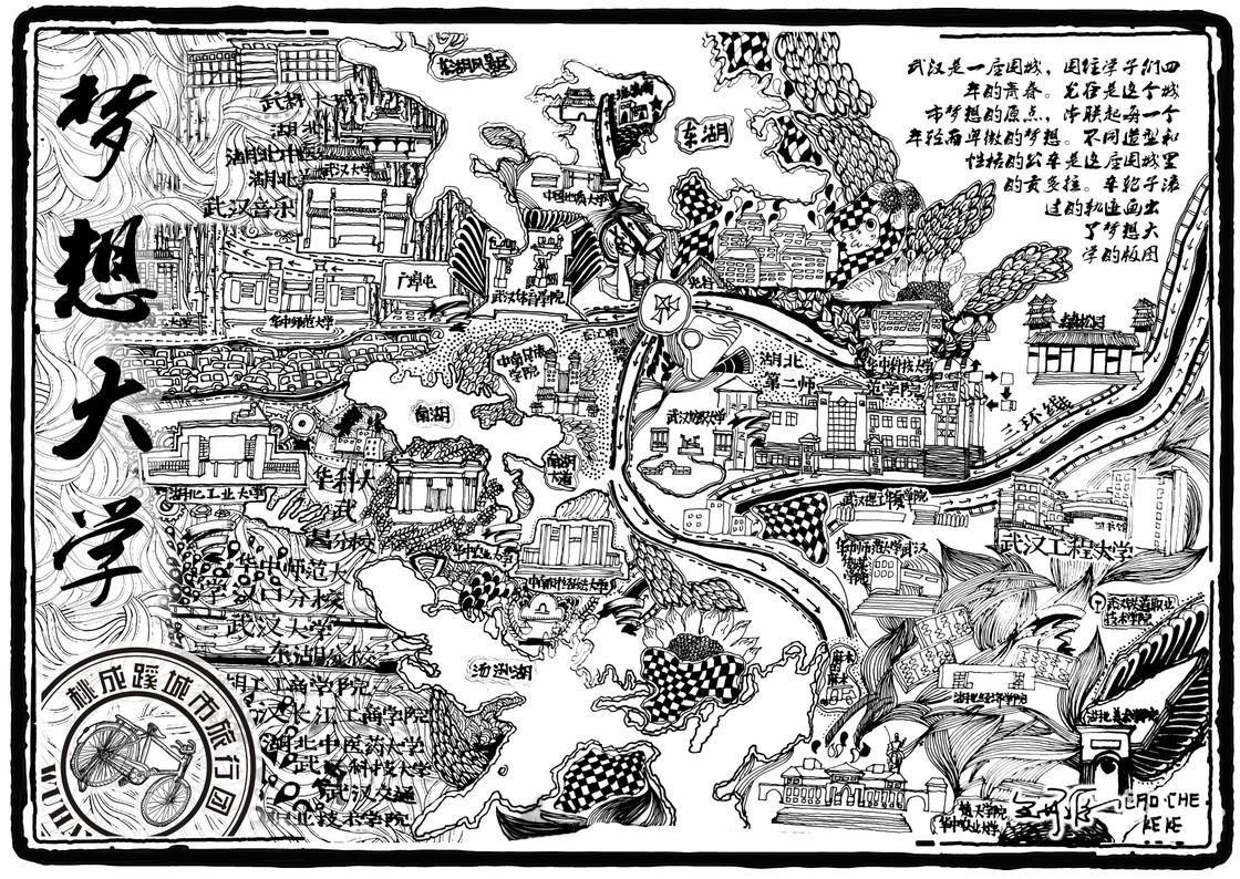 手绘地图系列_梦想邮局