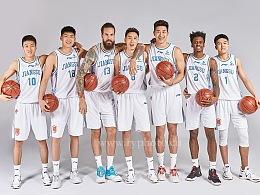江苏苏州肯帝亚男篮篮球运动员广告形象照