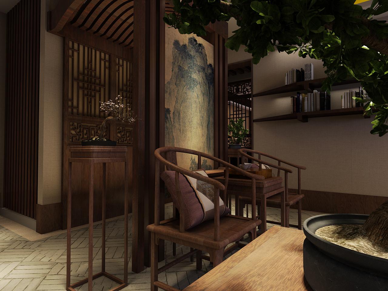 中式私人会所|空间|室内设计|晨昏昼夜 - 原创作品