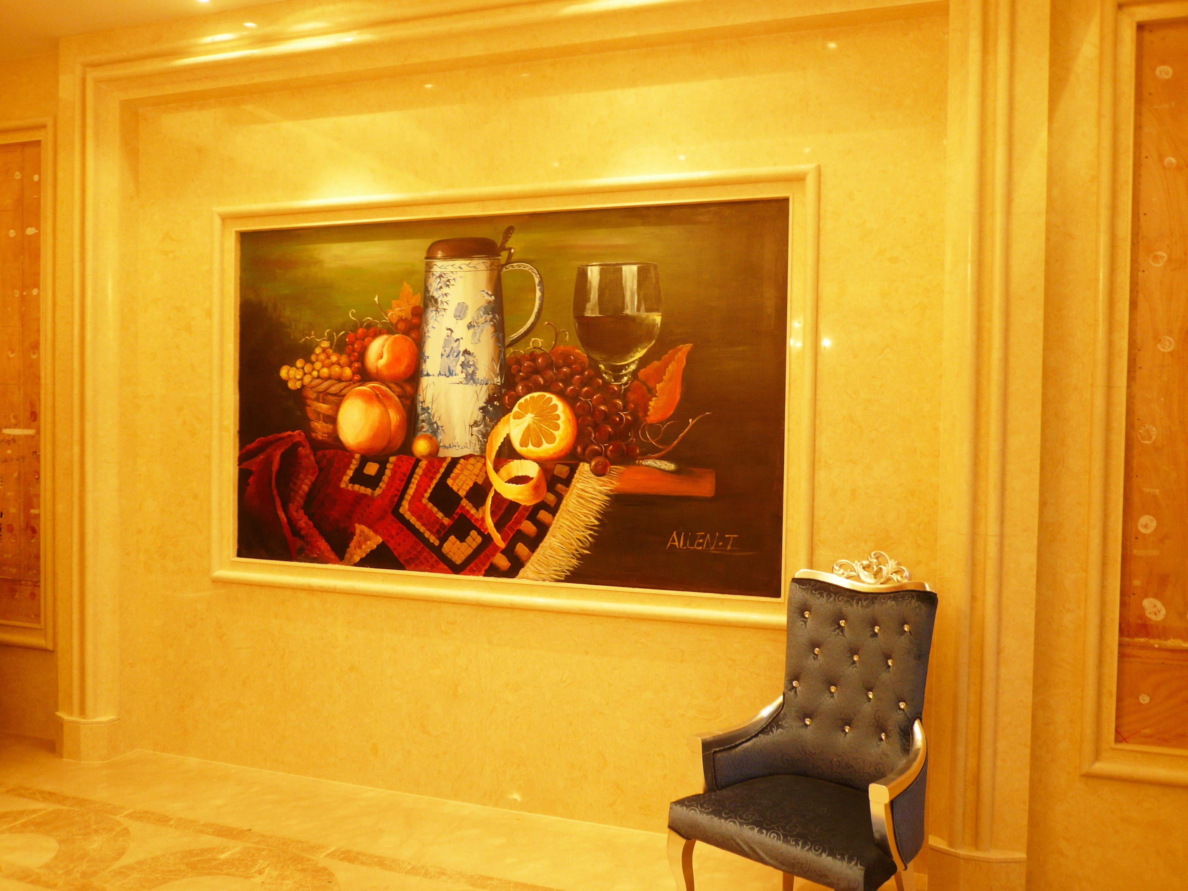 手绘包厢壁画图片