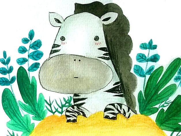 萌萌森林里的小动物|儿童插画|插画|马小鳗 (628x474)-动物矢量素材