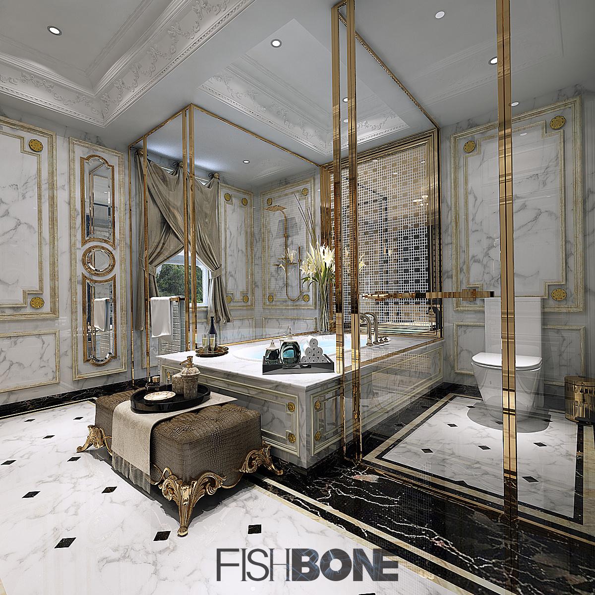鱼骨设计-巴洛克风格别墅 空间 室内设计 鱼骨设计所