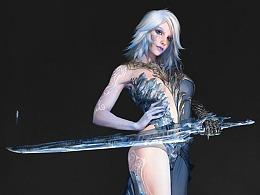 《虚幻争霸》冰雪女王欧若拉Aurora角色设计