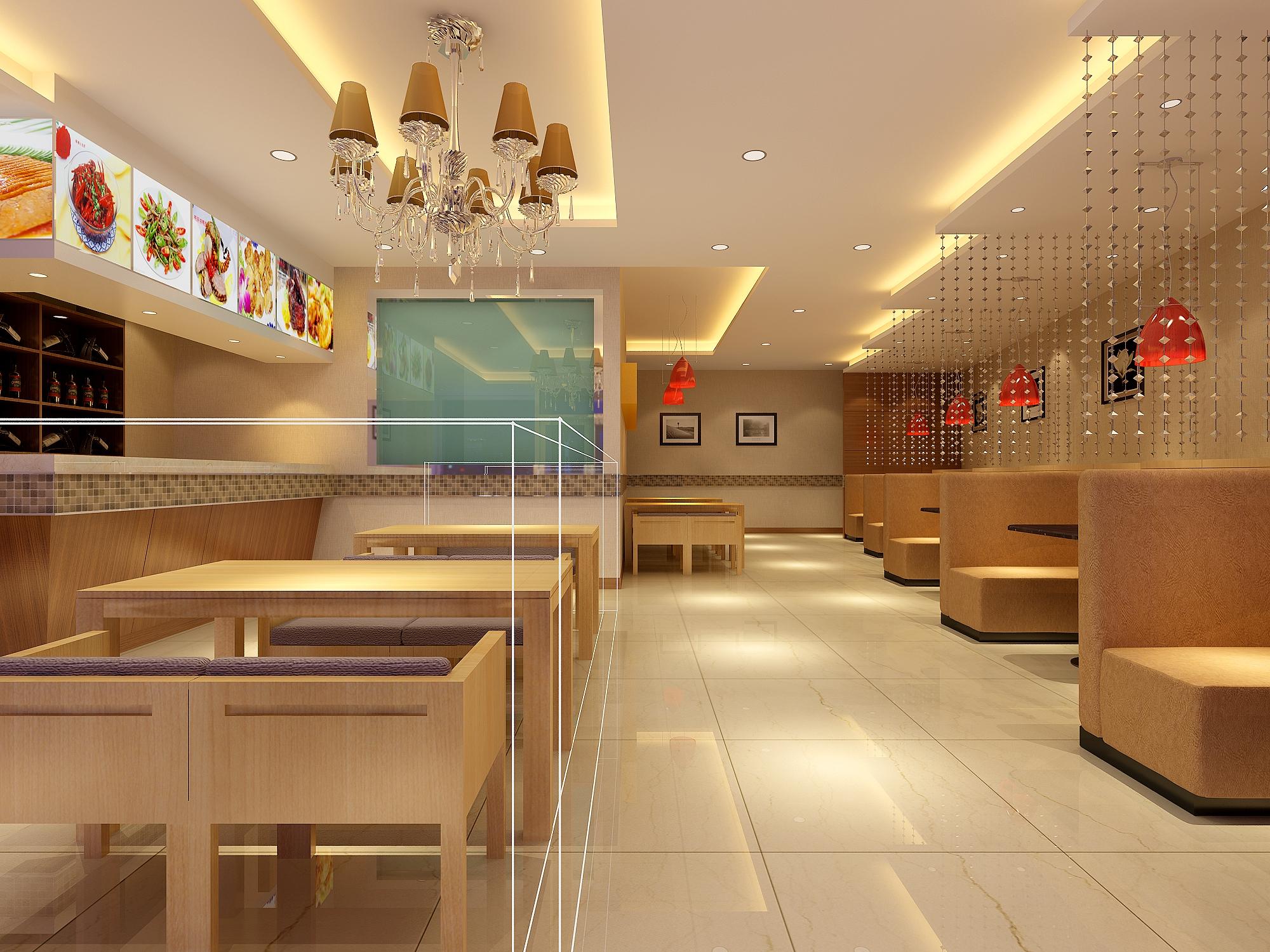 快餐店店面设计效果图-门窗小店面装修效果图图片欣赏下载