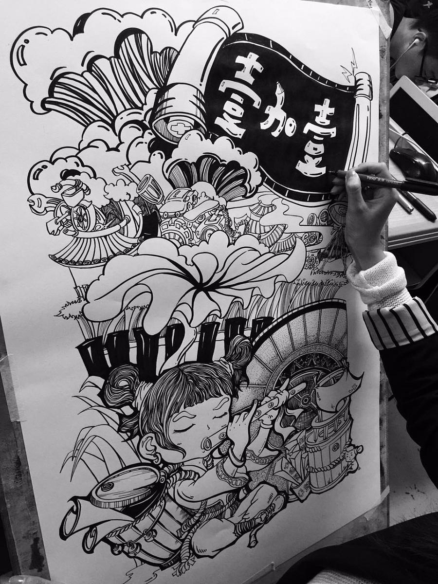 黑白装饰画-范画合辑