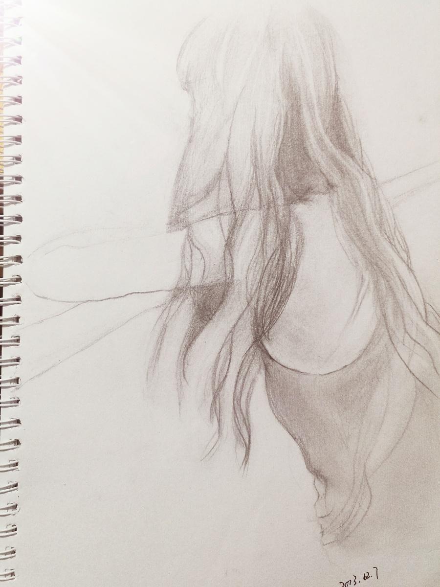 人物素描|绘画习作|插画|nanna123 - 原创设计作品