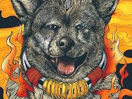 彩色绘--犬神